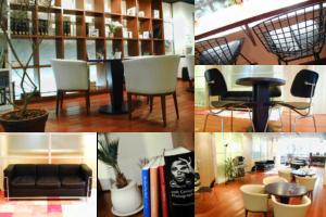 ラウンジの様々な家具の写真